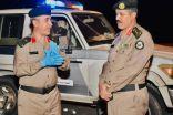 """""""المناع"""" يقف ميدانياً على جهود شرطة صامطة"""