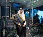 سمو أمير منطقة مكة المكرمة يدشن نموذج حافلات النقل العام بالعاصمة المقدسة